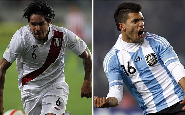 Juan Manuel Vargas, Kun Agüero, Selección argentina, Eliminatorias Brasil 2014, Selección venezolana, Selección peruana