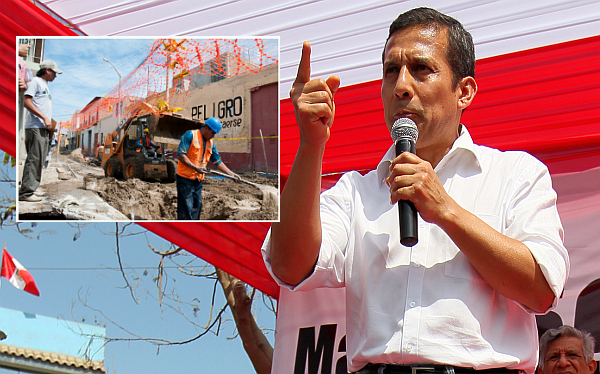 Ollanta Humala, Agua, Junín