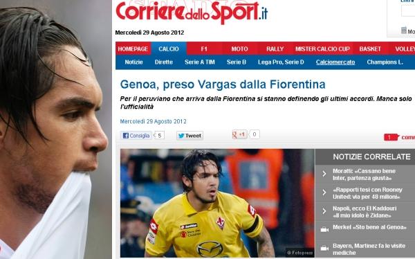 Juan Manuel Vargas, Génova, Serie A, Fútbol italiano, Calcio, Fiorentina