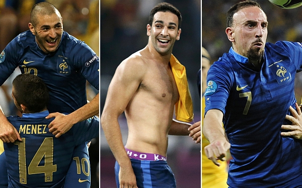 Karim Benzema, Selección francesa, Franck Ribéry, Adil Rami, Eliminatorias Brasil 2014