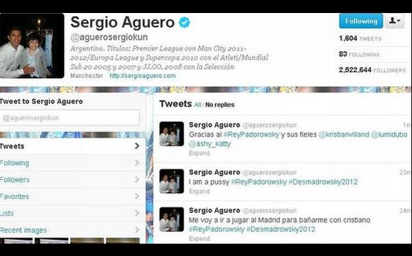 Sergio Agüero, Twitter