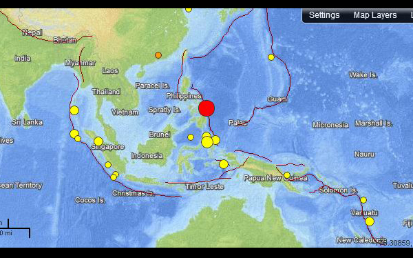 Filipinas, Terremotos, Tsunamis, Terremoto en Filipinas