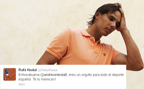 FC Barcelona, Rafael Nadal, Andrés Iniesta, Real Madrid, UEFA