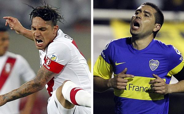 Paolo Guerrero, Juan Román Riquelme, Eliminatorias Brasil 2014, Selección venezolana, Selección peruana