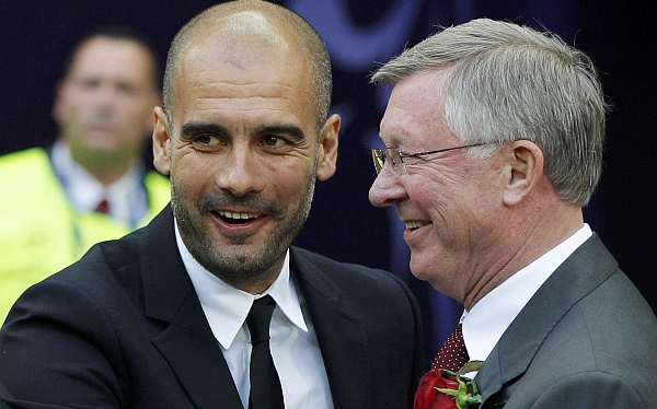 Josep Guardiola, Pep Guardiola, Sir Alex Ferguson, Manchester United