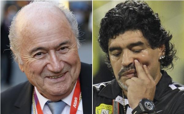 FIFA, José Mourinho, Diego Maradona, Lionel Messi, Joseph Blatter, Pelé, Alfredo Di Stéfano, Diego Armando Maradona