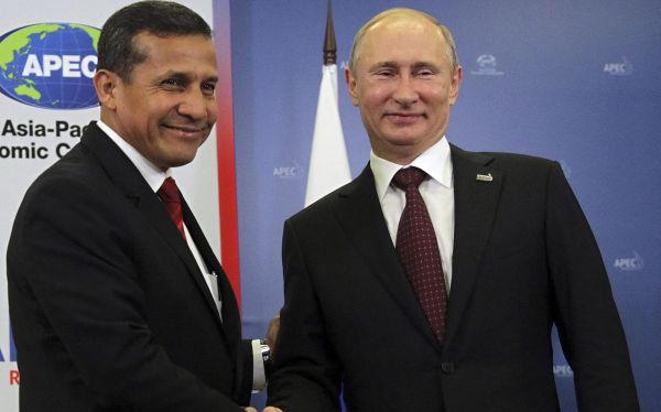 Ollanta Humala, Vladimir Putin