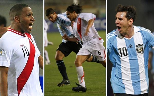Jefferson Farfán, Lionel Messi, Juan Manuel Vargas, Selección argentina, Eliminatorias Brasil 2014, Selección peruana