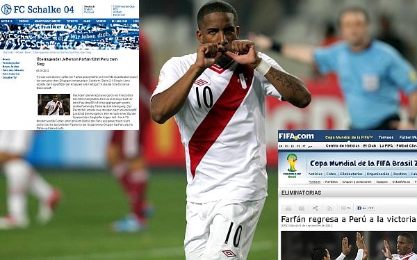 FIFA, Jefferson Farfán, Schalke 04, Eliminatorias Brasil 2014, Selección peruana