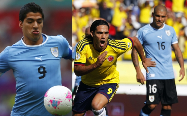 Luis Suárez, Selección ecuatoriana, Selección uruguaya, Eliminatorias Brasil 2014