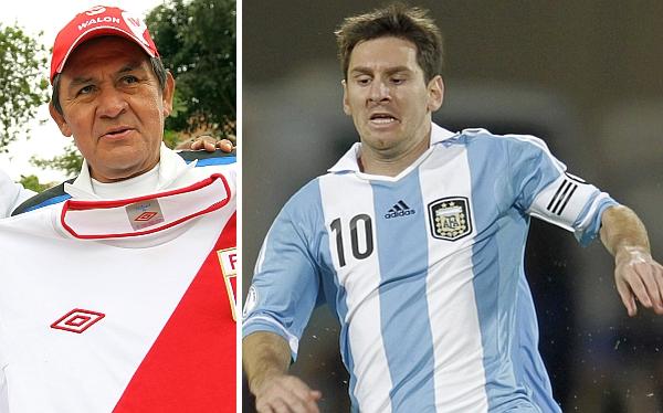 FC Barcelona, Lionel Messi, Hugo Sotil, Selección argentina, Selección peruana