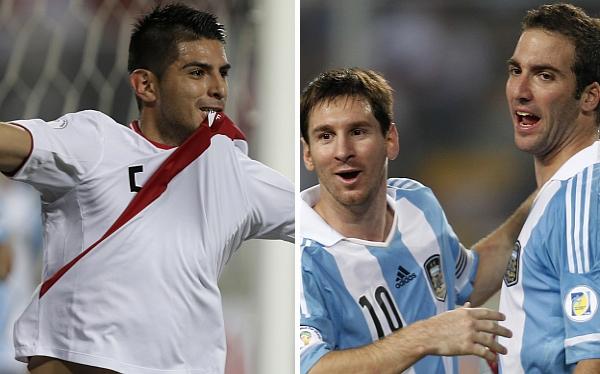 Lionel Messi, Carlos Zambrano, Gonzalo Higuaín, Selección argentina, Eliminatorias Brasil 2014, Selección peruana