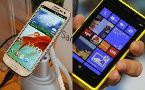 Samsung, iPhone 5, Galaxy S 3,  HTC One X,  Nokia Lumia 920