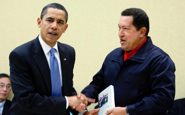 Barack Obama, Hugo Chávez