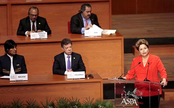 Unasur, Siria, Brasil, III Cumbre ASPA, Liga de Estados Árabes