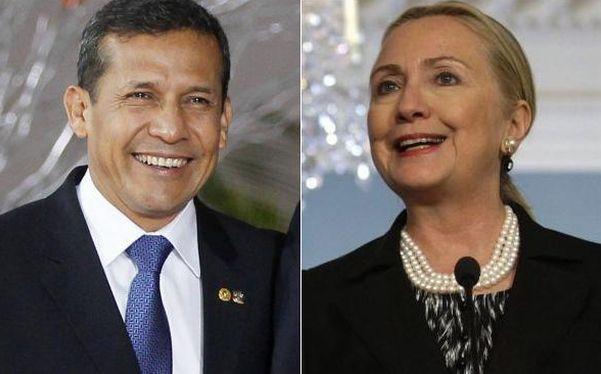 Ollanta Humala, Hillary Clinton