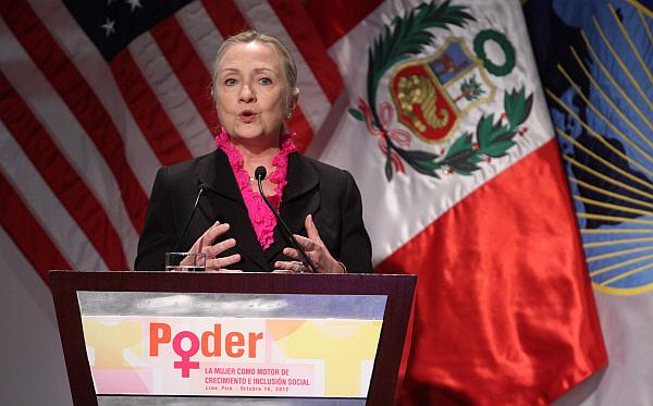 """Hillary Clinton en Lima: """"Las mujeres son el motor de la economía mundial"""""""
