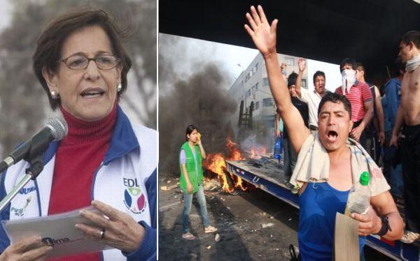 Villarán tras bloqueo a La Parada: