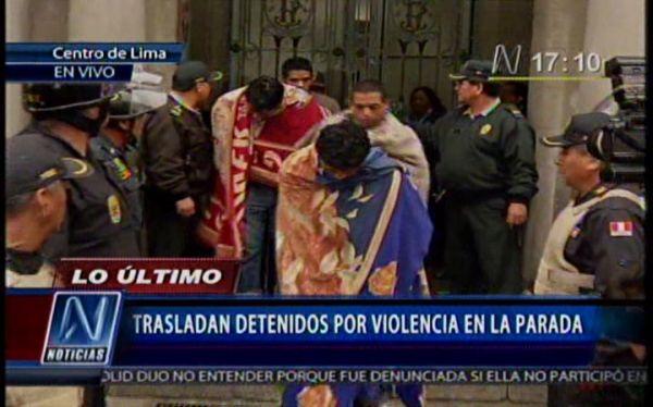 Detenidos durante disturbios en La Parada son trasladados a penales