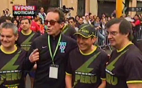 Presidente Ollanta Humala participó en carrera 10K