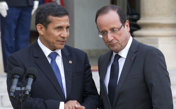 Ollanta Humala presentó en París un Perú