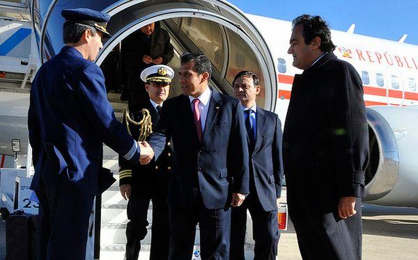 Humala arribó a Portugal para reunirse con autoridades y empresarios