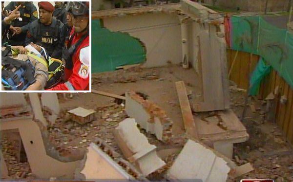 Miraflores: tres obreros se salvaron de morir tras derrumbe de muro