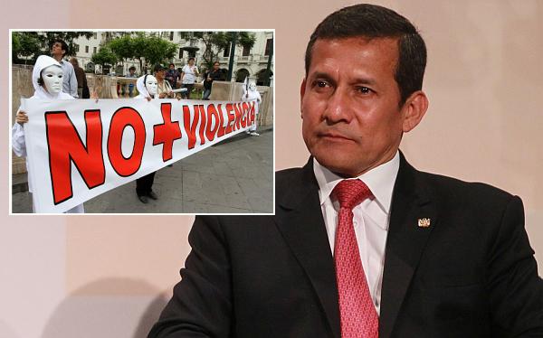 """Humala destacó marcha contra Movadef: """"Vamos a acabar con la subversión"""""""