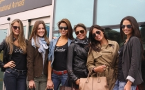 Bellas 'top models' brasileas y colombianas llegaron al Per