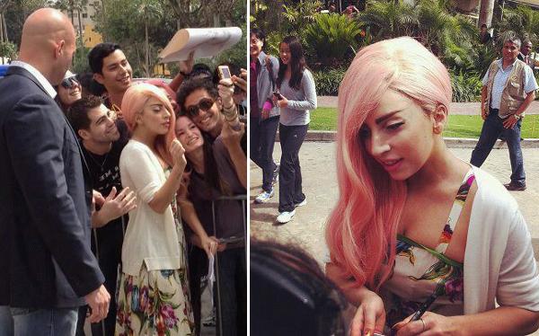 Lady Gaga se despide del Perú firmando autógrafos a sus seguidores