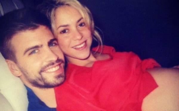 Shakira lució su avanzado estado de gestación
