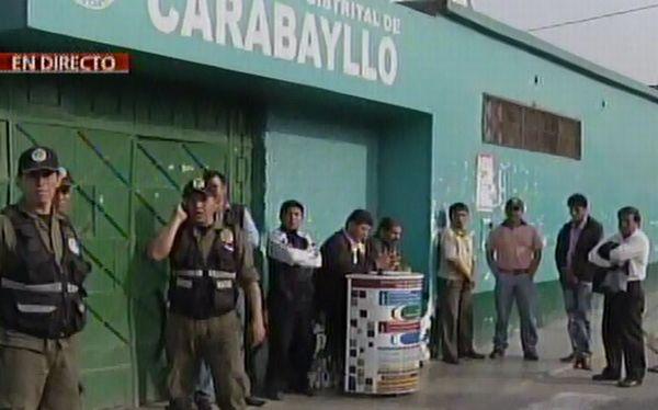 Carabayllo: ladrones se llevaron caja fuerte de la municipalidad