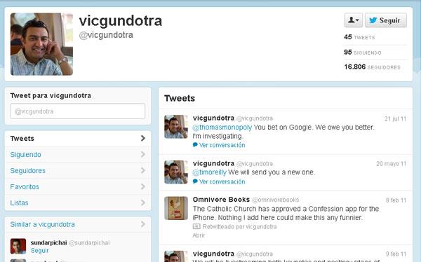 El vicepresidente de Google fue prohibido de usar Twitter