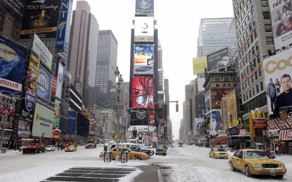 invierno en new york: