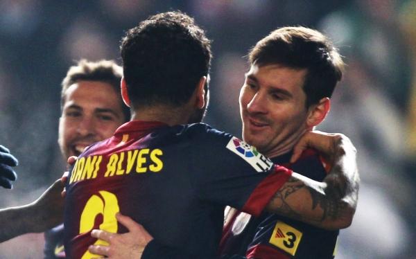 Messi marcó doblete en el triunfo 2-0 de Barcelona sobre Córdoba por la Copa del Rey