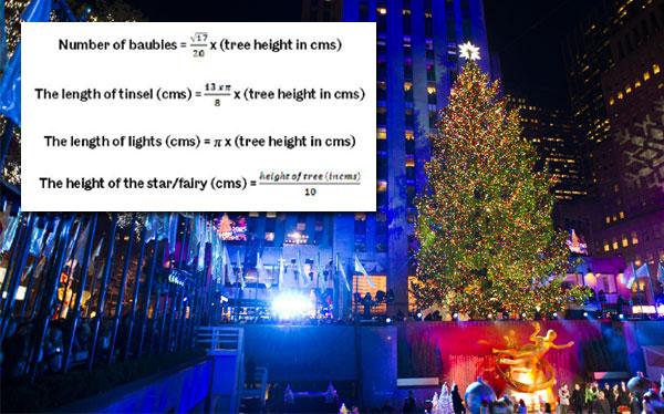 Una fórmula matemática enseñan a crear 'el árbol de Navidad perfecto'