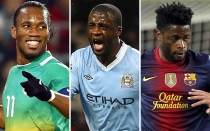 FC Barcelona, Didier Drogba, Seleccin marfilea, Tour Yaya, Shanghai Shenhua, Alex Song, Manchester City