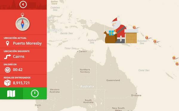 ¿Quieres saber dónde está ahora Papá Noel? Síguelo en Google