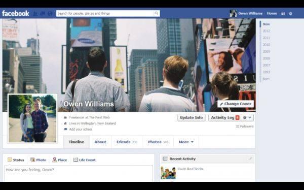 Tu perfil de Facebook cambiará y volverá a ser de una sola columna
