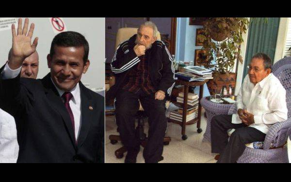 Ollanta Humala se reunió con Fidel y Raúl Castro en La Habana