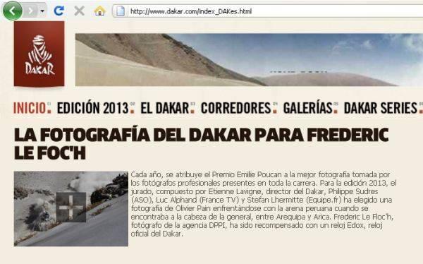 La mejor foto del Dakar 2013 se tomó en territorio peruano