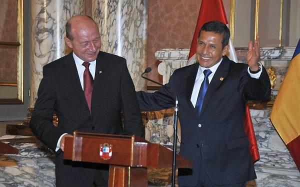 Ollanta Humala se reunió con presidente de Rumania en Palacio de Gobierno