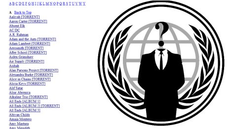 Anonymous sube a la red la discografia completa de sony 79730