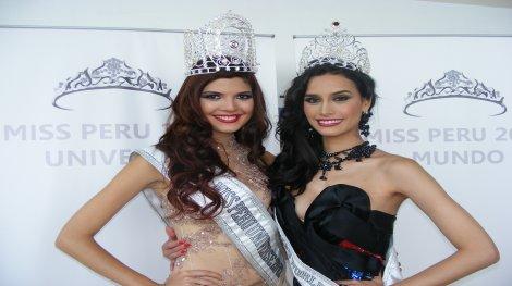 Nicole Faverón y Giuliana Zevallos son las nuevas reinas del Perú