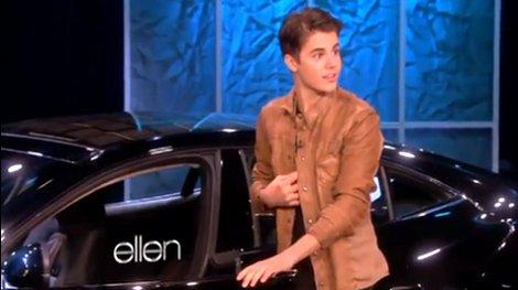 El auto de Justin Bieber