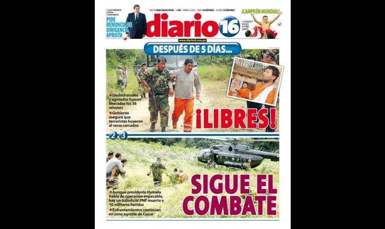 RESCATE DE 36 TRABAJADORES  SECUESTRADOS POR SENDERO LUMINOSO : OPERACION LIBERTAD 106372